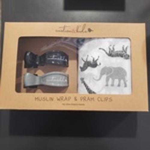 Black & Grey Safari Muslin Set