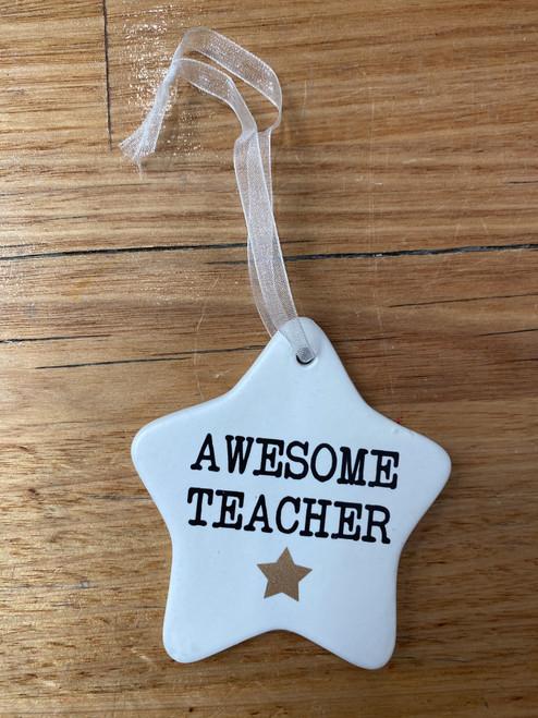 Awesome Teacher- Ceramic Plaque