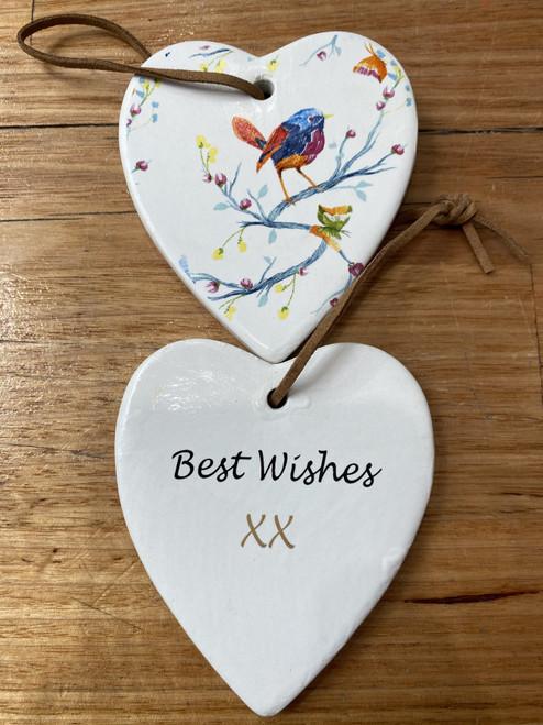 Best Wishes- Red Bird Plaque