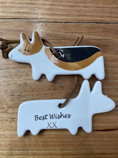 Best Wishes-Dog Ceramic Plaque