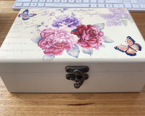 Floral Butterfly Jewellery Box