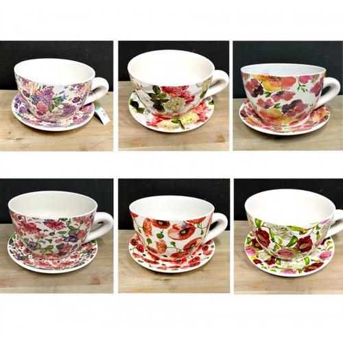 Flower Teacup Planter