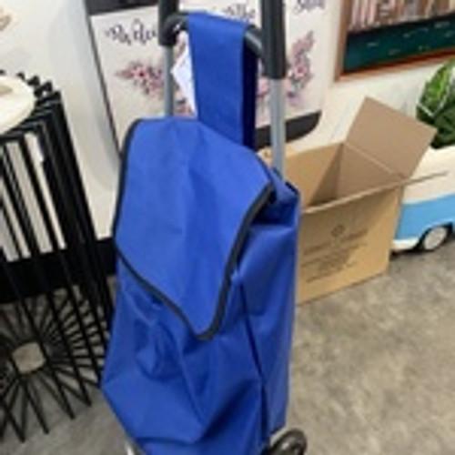 Black/Blue Shopping Trolley