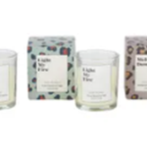 Available in:  Melt Down- Gardenia & Bamboo Leaf scented  Light My Fire- Shore Breeze & Sage Scented  Burn Baby Burn- Bergamot & Mineral Spring Scented