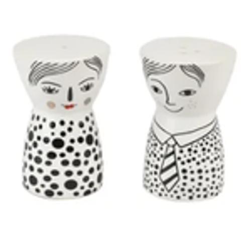 Sid & Nancy Salt/Pepper Shaker Set
