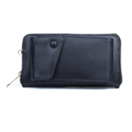 Black Wallet w/ Phone Compartment