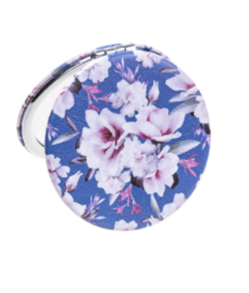 Flowers Round Compact Mirror