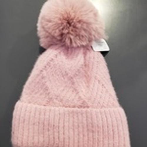 Fuzzy Knitted Beanie w/ pompom