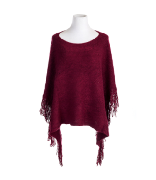 Knitted Wine Poncho