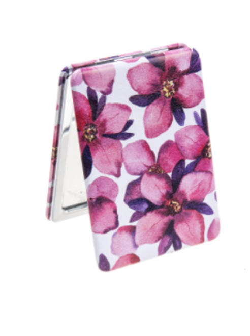 Pink Flowers Compact Mirror