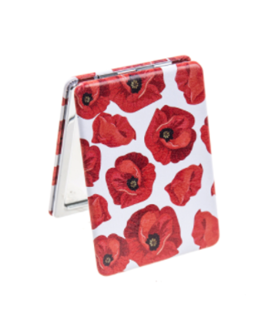 Poppies Compact Mirror