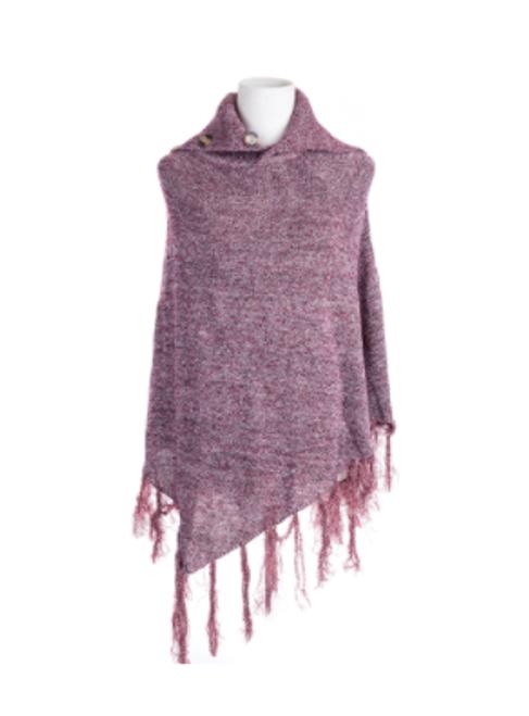 Purple Collared Poncho