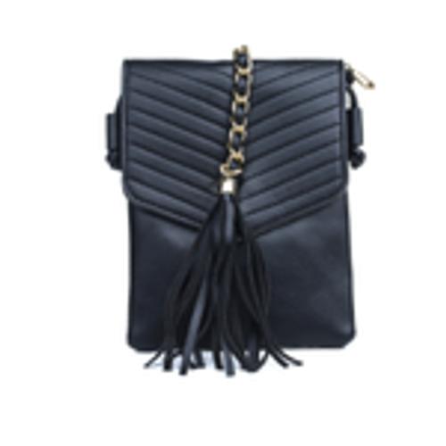 Tassel & Chain Crossbody Bag