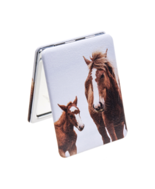Two Horse Compact Mirror