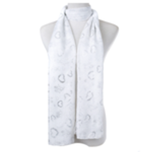 White Hearts Scarf