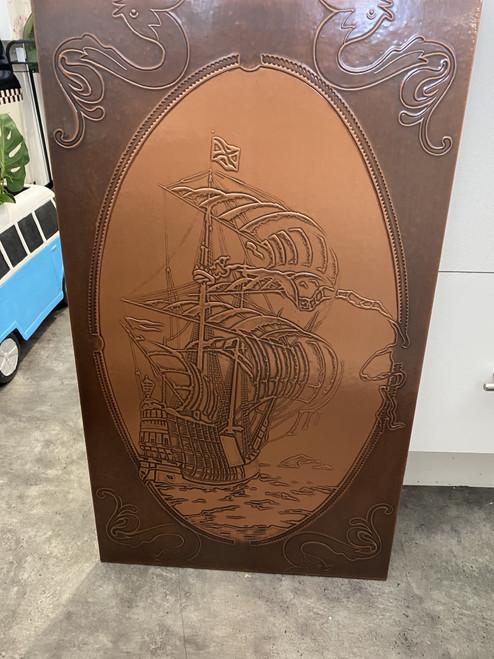 Copper Boat Wall Art