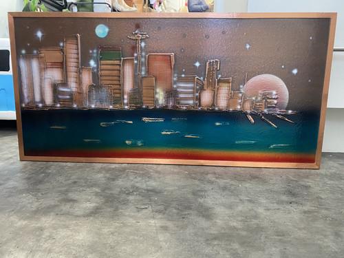 Copper Cityscape Wall Art