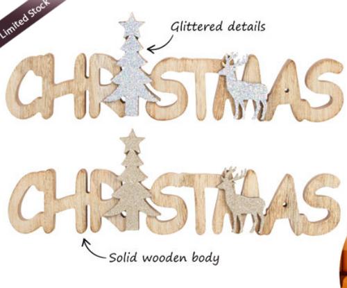 Christmas Wood Shelf Plaque