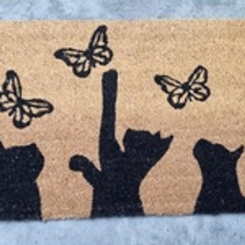 Butterfly & Cat Doormat 45x75cm