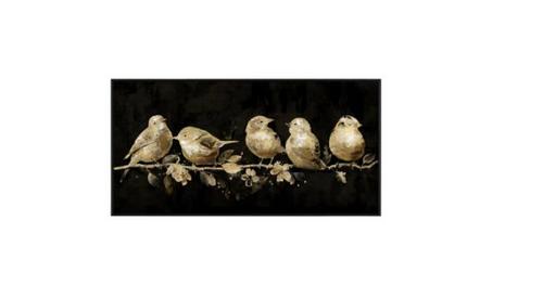 Gold Birds Canvas 100x50cm