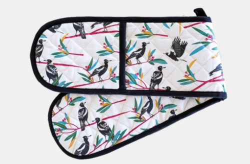 Magpies Double Oven Glove