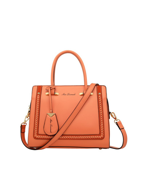 Reese Stitch Detail Handbag/Melon