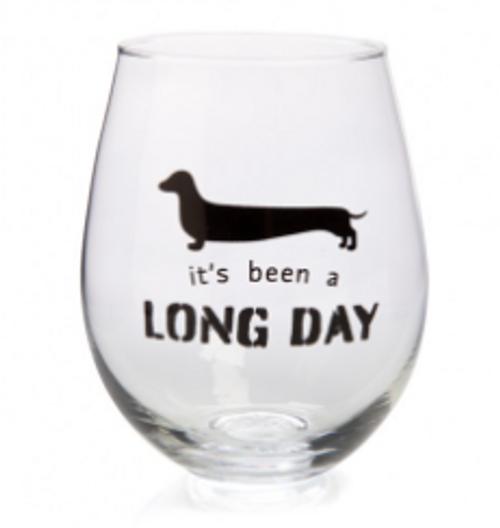 Dachshund Stemless Wine Glass