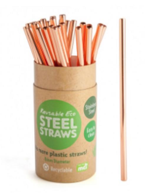 Rose Gold Reusable Metal Straw