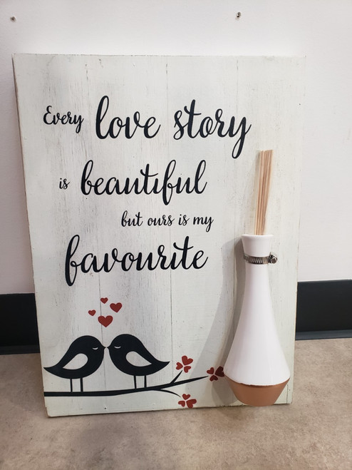 Reed Diffuser Wall Plaque- Love