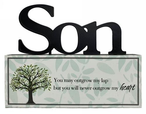 Son- Outgrow Heart Tabletop Sign