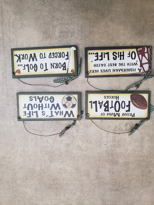 Sports Plaque Assorted