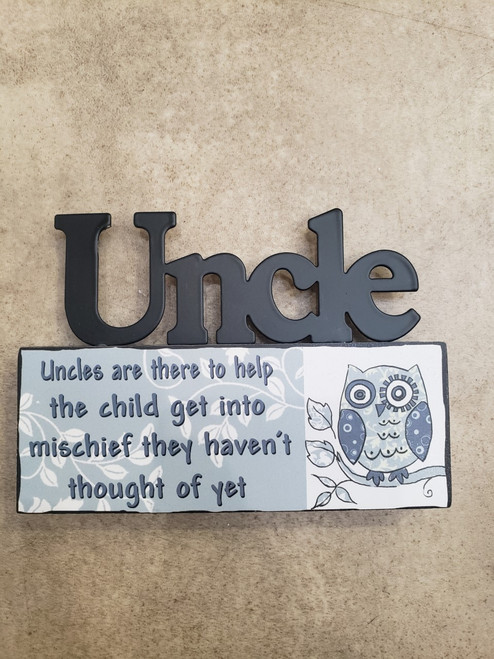 Uncle Tabletop Sign