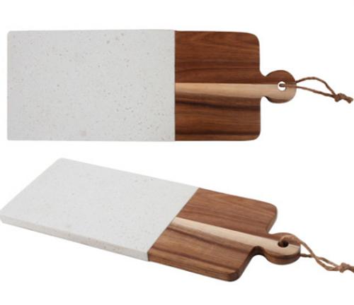 Long Wood & Terrazzo Serving Board