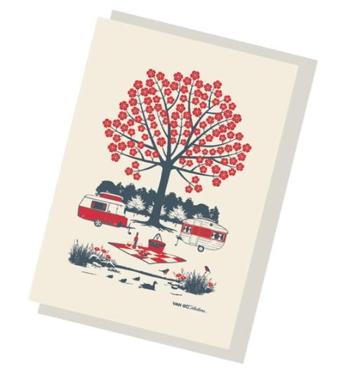 Red Caravan Greeting Card