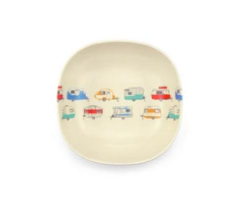 Coloured Caravans Cereal Bowl