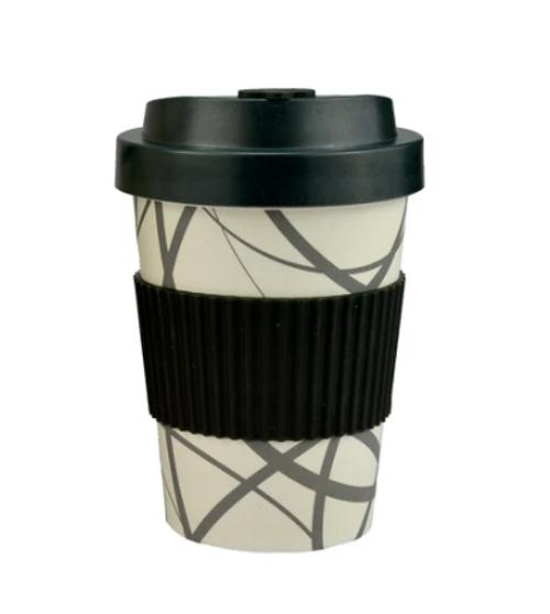 Circle line Design Bamboo Travel Mug 300ml