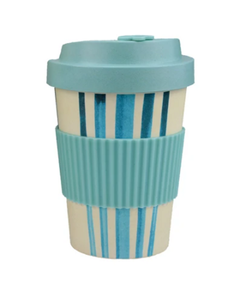 Blue Lines Bamboo Travel Mug 300ml