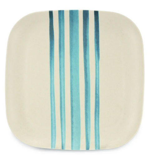Blue lines Bamboo Plate 26cm