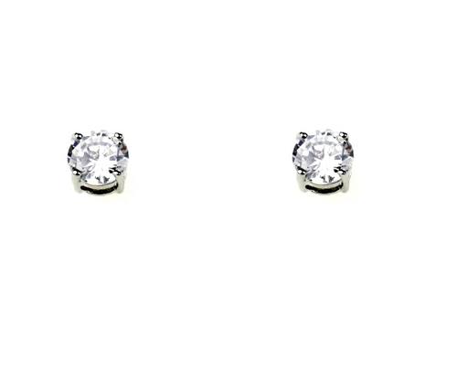 Clear Quartz Stud Earring