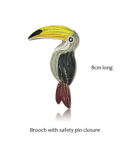 Acrylic Toucan Magnetic Brooch
