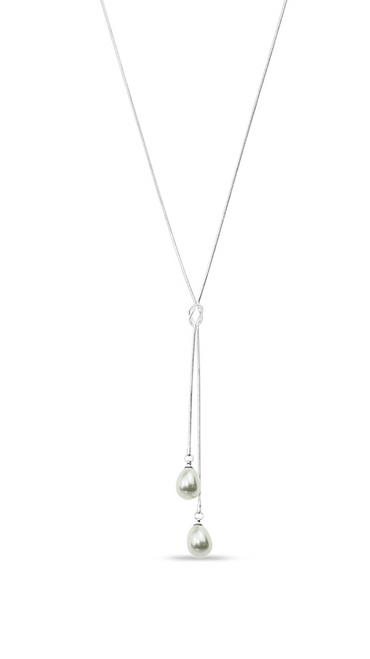 Glass Pearl Knot Necklace