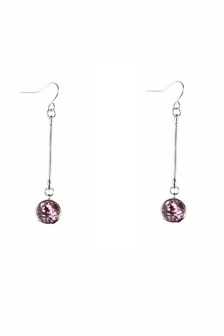 Swarovski Light Rose Drop Earrings