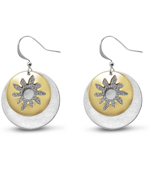 Sun Design Earrings