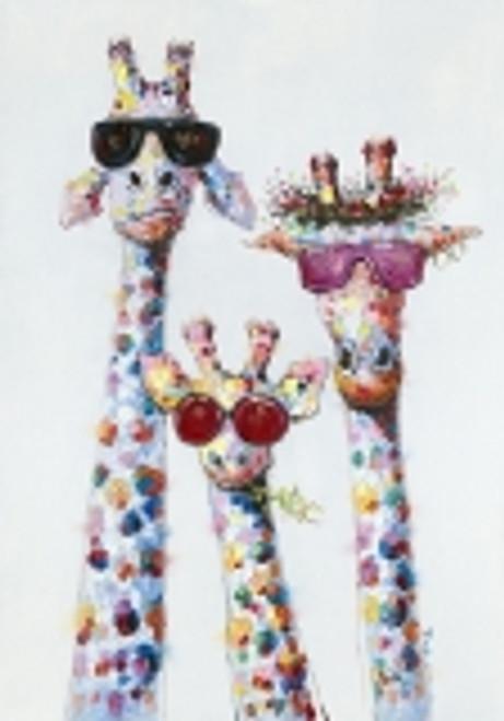 Funky Giraffe Canvas