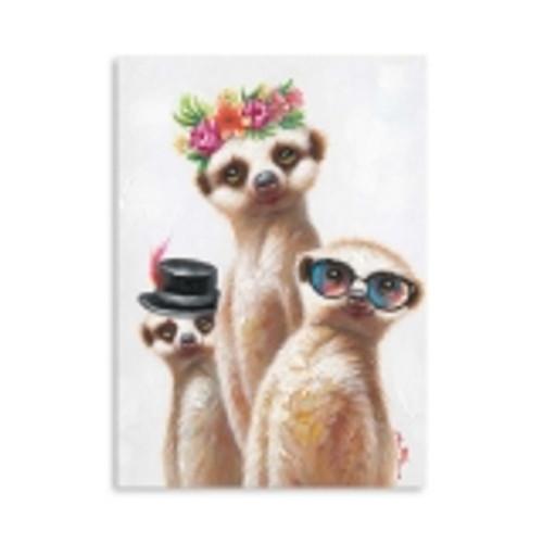 Meerkats Family Canvas