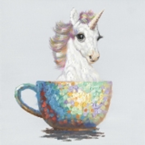 Unicorn In a Cup Canvas