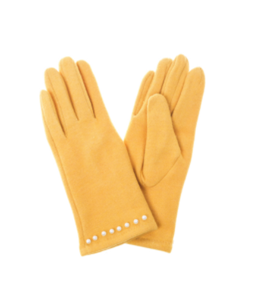 Basic Yellow Gloves with Pearls