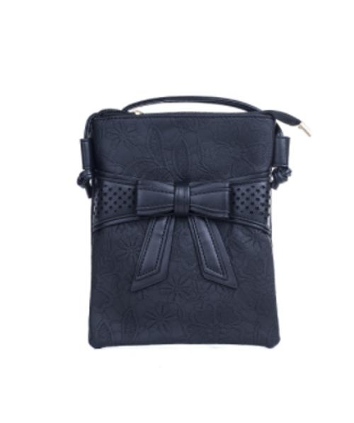 Black Bow Cross Body Bag