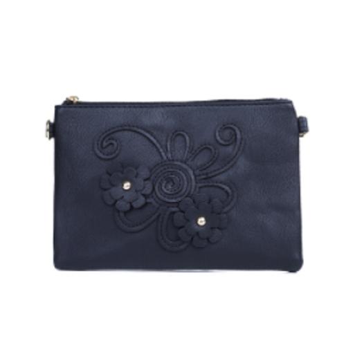 Black flower Cross Body Bag