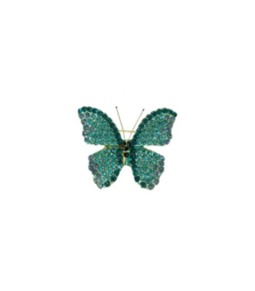 Crystal Green butterfly Brooch